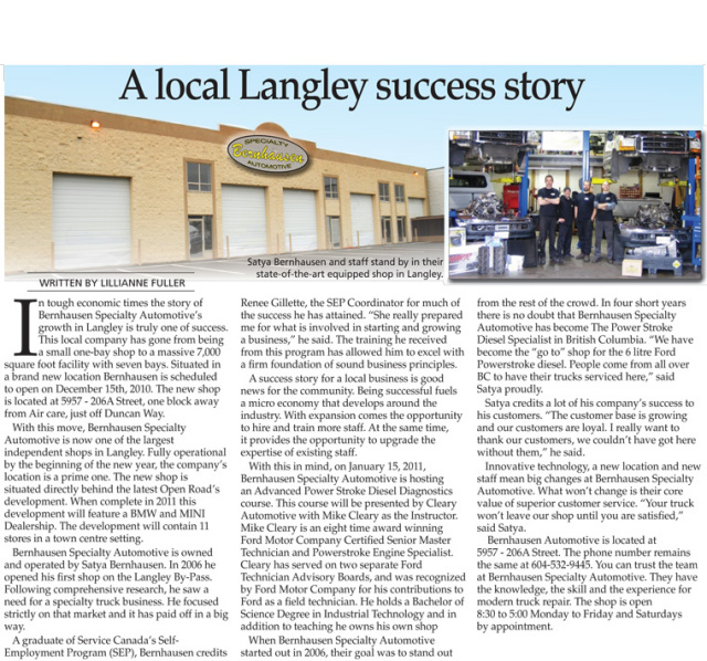 A local Langley success story