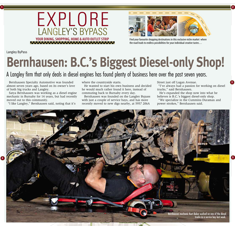 B.C.'s biggest Diesel-only shop!
